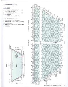 Image result for chart diagram trapezoid crochet scarf shawl