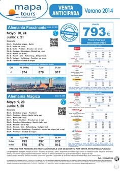 Alemania Fascinante Verano 2014 V.A. **Precio Final desde 953** ultimo minuto - http://zocotours.com/alemania-fascinante-verano-2014-v-a-precio-final-desde-953-ultimo-minuto-10/