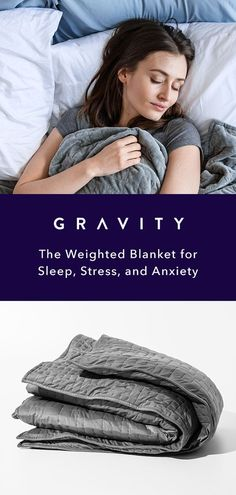 Enough with the pharmaceutical fixes…Gravity is natural, science backed solution for a stressed, sleep-deprived out society. Available in 3 weight variations and 25 pounds), Gravity is engineered to be around of your body weight in order to s Health Benefits, Health Tips, Health And Wellness, Mental Health, Things To Buy, Things I Want, Gravity Blanket, Stress, Relax