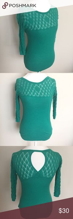 Anthropologie Sparrow Open Back Knit Sweater Top Gorgeous green Knit Crochet detail thin sweater by Sparrow from Anthropologie. Size medium and in excellent condition with no flaws. ⚓️No trades or holds. I accept reasonable offers. I only negotiate through the offer button. I do not model. I ship within two business days of your order. I only use Posh. 🚭🐩HB Anthropologie Sweaters Crew & Scoop Necks