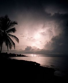 Lightning storm while on the island