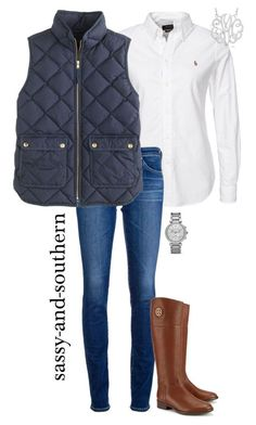 #fall #outfit / Grey Quilted Vest + Tall Boots