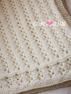Ewe Ewe Yarns :: Awesome Knitting Stuff - Sweet Pea Baby Blanket Knitting Pattern