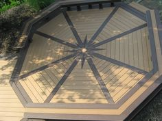 Legendary Builders Deck. Trex Accent Decking. Saddle with Woodland Brown inlay. Built in Orefield, Pa