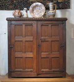 Cupboard Date: late 15th or early 16th century Culture: French or South Netherlandish Medium: Oak Dimensions: Overall: 68 1/2 x 68 1/2 x 27 in. (174 x 174 x 68.6 cm) Classification: Woodwork-Furniture