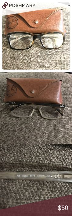Ray ban prescription glasses Bought used to have lenses replaced with my prescription but never did. The lenses have scratches and need to be changed. Do not have the original case but will include a ray ban case I have. I tried to include pictures of scratches but it is difficult to capture. Ray-Ban Accessories Glasses