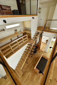 Home Loft Design Stairs Best Ideas Loft Design, House Design, Home Interior Design, Interior Architecture, Small Home Offices, Casas Containers, Space Interiors, House Stairs, Japanese House