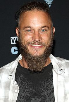Travis Fimmel - scruffy, strong alpha as Ragnar in The Vikings. Perfect male specimen.