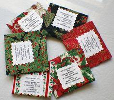 Tea Bag Gift-wrap tea bag in fabric