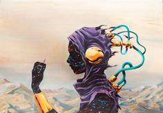 Petit coup de cœur pour l'artiste et illustrateur espagnol DEIH, basé à Valence et inspiré par les dessins de Moebius.