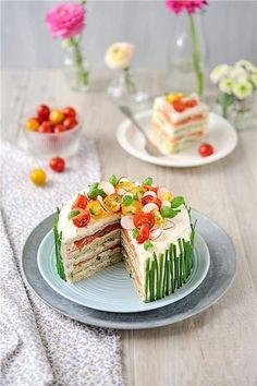 Αλμυρή τούρτα με ψωμί του τοστ