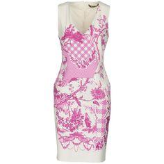 Roberto Cavalli Short Dress ($510) ❤ liked on Polyvore featuring dresses, white, mini dress, short white dresses, white jersey dress, white tube dress and tube dresses