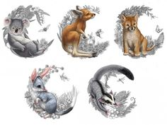 Stunning Animal Tattoo Designs That Inspire You To Get Inked - Millions Grace Tattoos generally symbolize a specific meaning. Animal tattoos are great tattoos to get if you want your tattoo to hold… Koala Tattoo, Animal Art, Animal Tattoos, Animal Drawings, Illustration, Australian Tattoo, Art, Australia Tattoo, Animal Illustration