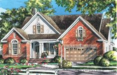 Cottage House Plan with 1606 Square Feet and 3 Bedrooms from Dream Home Source | House Plan Code DHSW41888