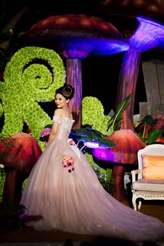 """Margaret & Edi's INCREDIBLE """"Blows-Everything-Else-Out-of-the-Water"""" Gothic Alice in Wonderland Wedding"""