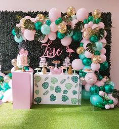 Can't get enough of these colors we created for @luxecoutureevents for this first birthday flamingo party #melbourneballoons