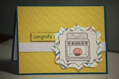 One Handmade Congratulations on Pregnancy Card by strandedpaper, $3.00