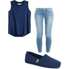 Untitled #19 by jaydasalda on Polyvore featuring polyvore, fashion, style, H&M, Frame Denim and Skechers