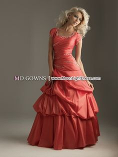 Modest Prom Dress in Floor Length(6320). Like the idea, but don't like the shoulders, unless it has a low back.
