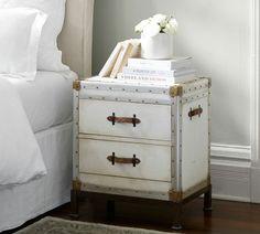 Little white trunk bedside