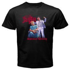 New DEATH Spiritual Healing Metal Rock Band Men's Black T-Shirt Size S To 2XL T Shirt Cotton Men Short Sleeve Tee Shirts