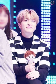 Awww Youngjae and his doll
