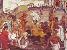 Jesus in Benares, by Frank Wesley Jesus Art, Jesus Christ, African Love, Life Of Christ, Bible Pictures, Major Events, Jesus Loves You, New Testament, Christian Art