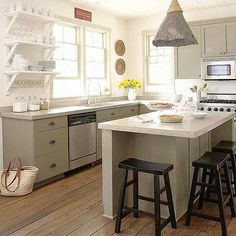Gray Green Kitchen Cabinets