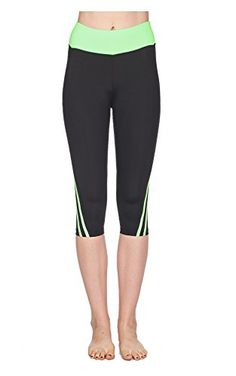 Verscos Womens Stretch Capris Leggings Medium Green >>> You can find more details by visiting the image link.