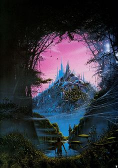 Below the lagoon through the portal and into the hidden city...  artwork by Tim White - M̲elt