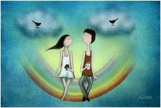 Amare significa innamorarsi delle differenze e, nonostante queste, ammirare l'altra persona