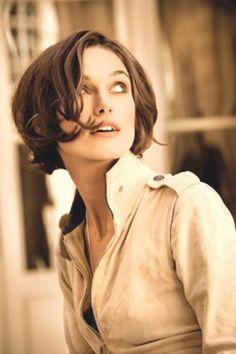 Keira Knightley, chanel, parfum, beige, leather, jacket, brown short hair, movie star, modern, woman