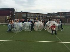 Bubble Footy for prefect training day