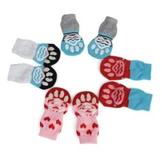 Pet Clothes Dog Cat Anti Skid Socks Rubberish Back Paw Protector Snowproof S/L Dog Paws, Pet Dogs, Pets, Non Skid Socks, Cat Shoes, Dog Socks, Knitting Socks, Knit Socks, Knitting Ideas
