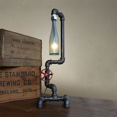 Classy Beer Bottle Lamps for the home, workbench, pub or the Man Cave.