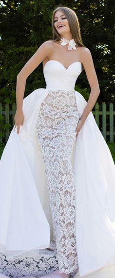 Junoesque Taffeta & Lace Sweetheart Neckline 2 In 1 Prom Dress