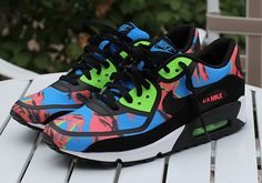 Nike Air Max 90 Tape- Blue Hero, Flash Lime, and Atomic Red