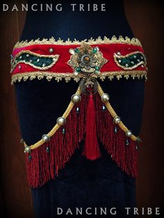 Tribal Fusion Belt with Fringe Tribal Belly Dance by DancingTribe