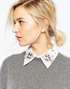 Buy ASOS Embellished Lace Bib at ASOS. With free delivery and return options (Ts&Cs apply), online shopping has never been so easy. Get the latest trends with ASOS now. Ss15 Fashion, Work Fashion, Modest Fashion, Fashion Online, Fashion Decor, Spring Summer Trends, Spring Summer Fashion, Autumn Fashion, Asos