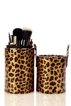 Haute Exclusive Set with Brush Tube - Leopard Print Animal Print Decor, Animal Print Fashion, Fashion Prints, Animal Prints, Leopard Animal, My Animal, My Favorite Color, My Favorite Things, Cheetah Print