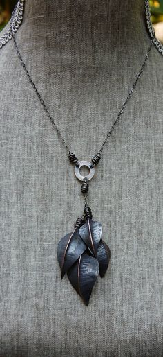 new fold formed leaf necklace....more over at my blog