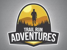 Dribbble - Trail Run Adventures Logo by Curtis Gaudet