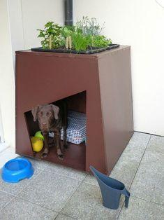 Cardboard Furniture, Diy Cardboard, Pet Furniture, Diy Pour Chien, Niche Chat, Niche Design, Dog Garden, Dog Pen, Cool Dog Houses