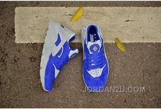 7e541c721e83 Nike Air Huarache Run PRM Men PigSkin Leather 704830-400 Blue Grey