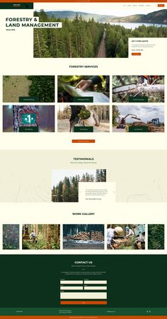 Forestry Service Website Template | Wix Website Templates
