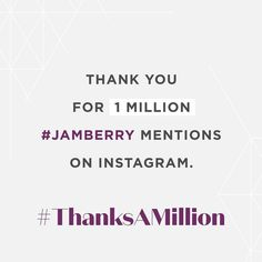 #ThanksAMillion! We love seeing all the amazing images on #Jamberry. Keep posting and sharing.