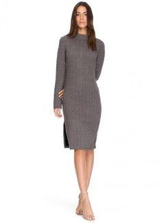 Платье-свитер для офиса