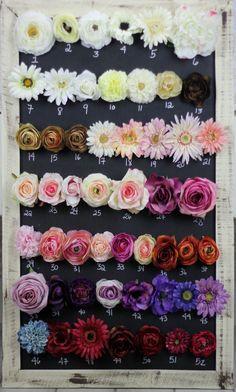 Silk Flowers DIY Wedding Decorations You Pick. $8.00, via Etsy.