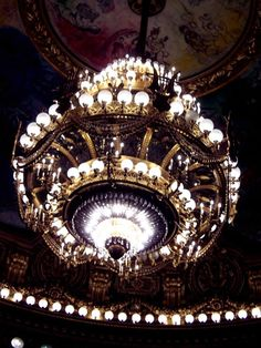 Chandelier at the Opera Garnier in Paris, where the Phantom of the Opera is based.  Thanks to Tim Peacock for sharing this lovely piece of light art in his deviantART gallery.  -- Eve.
