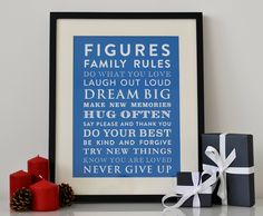 Personalised Family Rules Print – JustMyType